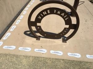 Vine Trail Bike rack and footprints